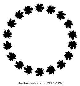 the wreath foliage, maple