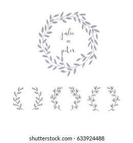 Wreath hand drawn vector