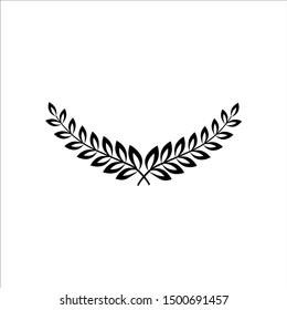 Wreath icon, logo isolated on white background