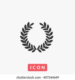 wreath Icon Vector. Simple flat symbol. Perfect Black pictogram illustration on white background.
