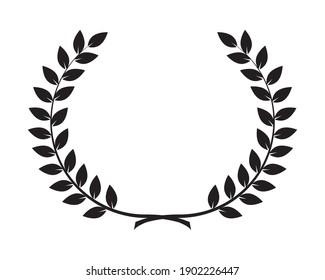 Wreath leafs crown icon vector illustration design,  award icon