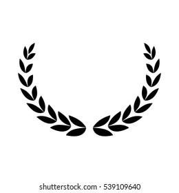 Wreath leaves ornament icon vector illustration graphic design