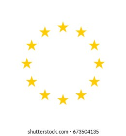 The wreath of stars of EU isolated on white background. Vector EPS10