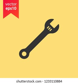 Wrench icon. Spanner icon. Repair icon. Engineer work tools vector sign. Mechanic tools sign. Toolkit icon. EPS 10 flat symbol.