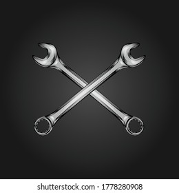 wrench image crossed vector logo