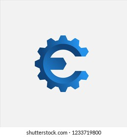 Wrench Letter E