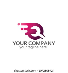 wrench services - logo template