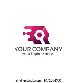 wrench services tech logo template
