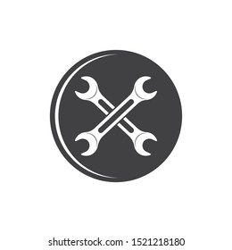 wrench vector illustration and icon of automotive repair design
