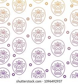 wrestler mask pattern