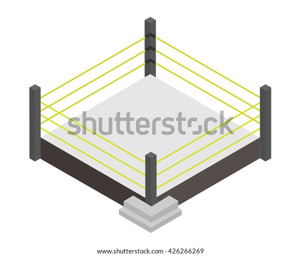 Wrestling Ring Isometric Vector Stock Vector (Royalty Free