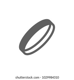 Wrist band icon in trendy flat style isolated on white background. Symbol for your web site design, logo, app, UI. Vector illustration, EPS