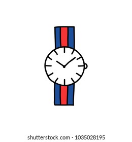 wrist watch doodle icon