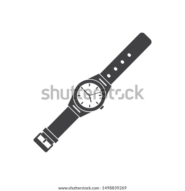 Wrist Watch Icon Vector Template Design Stock Vector Royalty Free 1498839269