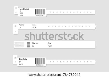 wristband template set stock vector illustration stock vector