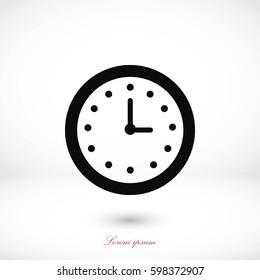 wristwatch icon vector, flat design best vector icon