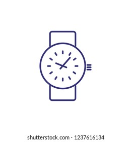 Wristwatch line icon. Wrist watch, accessory, clock. Time concept. Can be used for topics like business, accuracy, punctuality