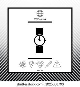 Wristwatch symbol icon