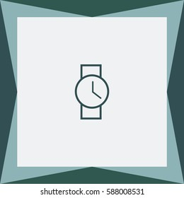 Wristwatch Vector Icon.
