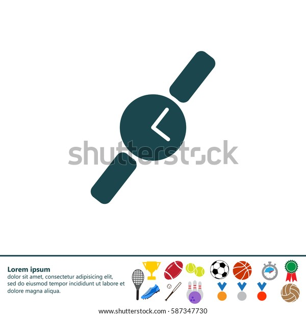 Wristwatch vector icon