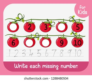 Write each missing number illustration