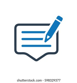 Write feedback icon