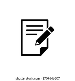 Write icon vector. Document and file icon symbol illustration