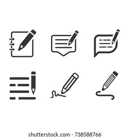 Write a Note Icons