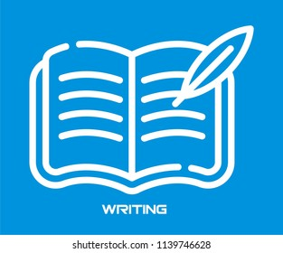 WRITE IN NOTEBOOK VECTOR ICON