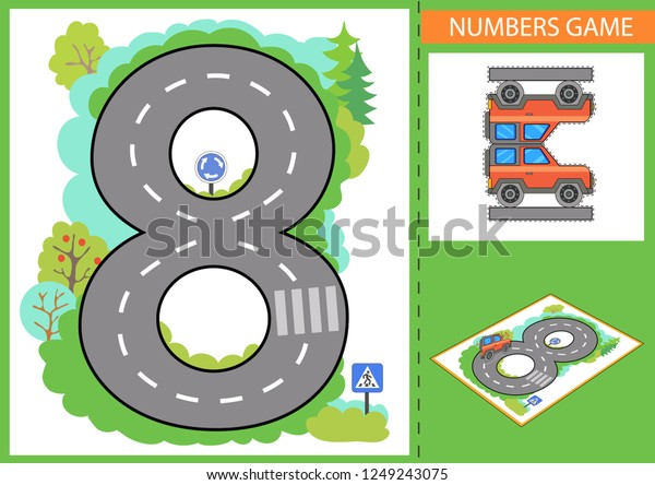 Write Numbers Children Educational Game Numbers Stock Vector Royalty Free 1249243075