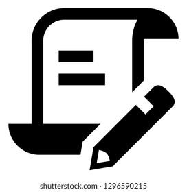 Write Script Scroll Vector Icon