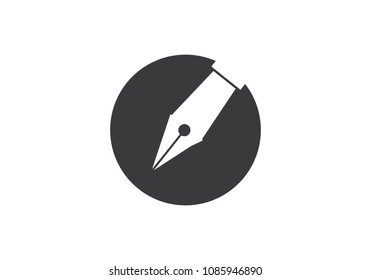 Writer logo vector icon template