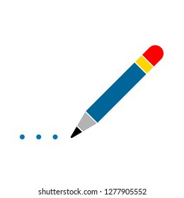 writer pencil icon - pencil drawing logo isolated, creative illustration - Vector