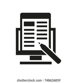 Writing Articles Vector Icon