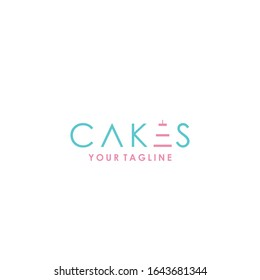 writing cakes logo  vector template