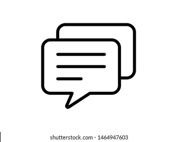 Writing comment feedback icon. Message symbol. Bubble speech. Flat vector illustration