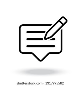 Writing feedback icon vector