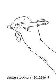 Writing Hand : Coloring Book