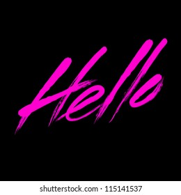 "Writing ""Hello"""