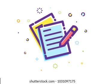 The writing Illustration