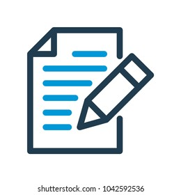 Writing line icon. Edit line icon. Vector illustation.