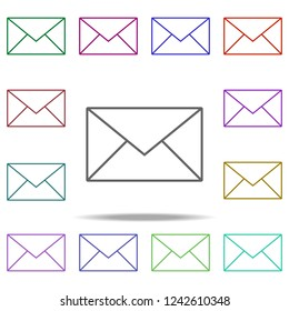 writing mail icon. Elements of online and web filled in multi color style icons. Simple icon for websites, web design, mobile app, info graphics