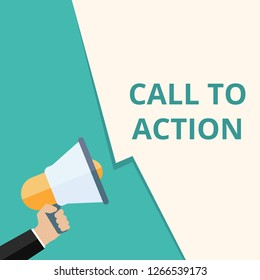 Writing note showing Call To Action. Vector illustration