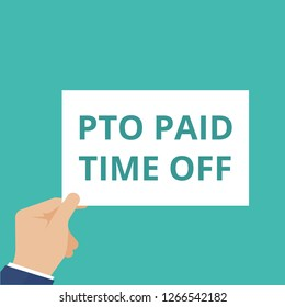 Writing note showing Pto Paid Time Off. Vector illustration
