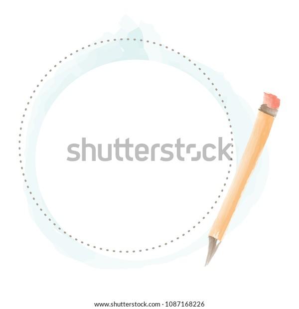 Writing Pencil Border