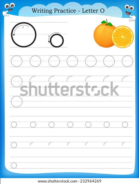 photo regarding Letter O Printable named Producing Prepare Letter O Printable Worksheet Inventory Vector
