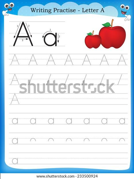 Writing Practice Letter Printable Worksheet Preschool Stock Vector (Royalty  Free) 233500924