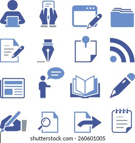Writing and publishing icons