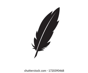 Writing Quill Feather Pen. Vector icon