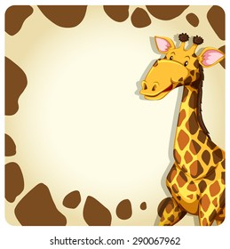 Writing space with giraffe and skin border